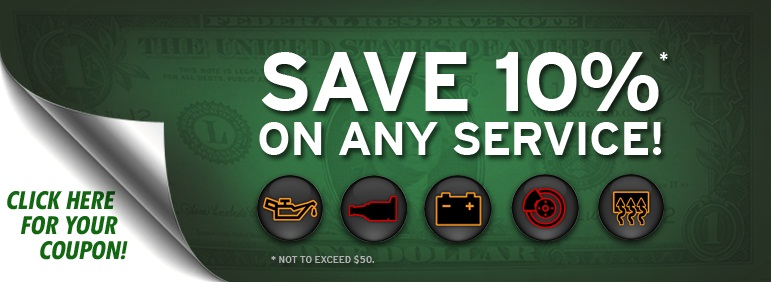 10 Percent off any auto repair service